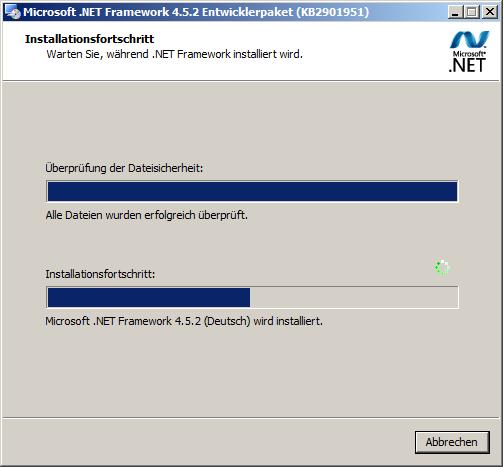 .NET Framework Entwicklerpaket installieren